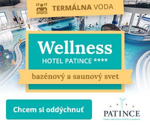 Wellness Hotel Patince - termálna voda - bazénový a saunový svet. Príď si oddýchnuť.